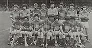 All Ireland Senior Hurling Championship - Final,.07.09.1980, 09.07.1980, 7th September 1980,.Galway 2-15, Limerick 3-9,.07091980ALSHCF,..TIpperary, Back row, Martin McGrath, Denis Finnerty, Arthur Brown, Ian Conroy, Kenneth Hogan, Paddy Maher, Michael Conway, Gerry Doyle, Front row, Willie Peters, Ger O'Neill, Joe Hayes, Jim Maher captain, Eddie Hogan, John Darcy, Vivian Dooley,