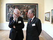 Colin Amery and rodney Mellville, Official opening Compton Verney, 23 March 2004. ONE TIME USE ONLY - DO NOT ARCHIVE  © Copyright Photograph by Dafydd Jones 66 Stockwell Park Rd. London SW9 0DA Tel 020 7733 0108 www.dafjones.com