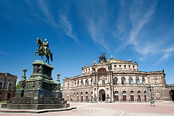 The Semperoper Opera House in  Dresden Saxony Germany