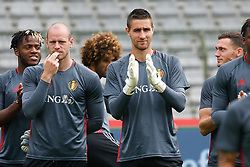 June 3, 2017 - Brussels, BELGIUM - Belgium's Michy Batshuayi, Belgium's goalkeeper Matz Sels and Belgium's goalkeeper Koen Casteels pictured at the start of the family day of Belgian national soccer team Red Devils, Saturday 03 June 2017, in Brussels. Belgium plays a friendly game against Czech Republic on 05 June and a World Cup 2018 qualifier in Estonia. BELGA PHOTO BRUNO FAHY (Credit Image: © Bruno Fahy/Belga via ZUMA Press)