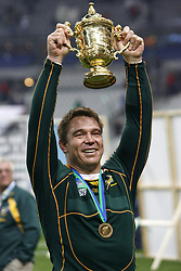 Oct 20, 2007 - Paris, France - Rugby World Cup 2007: John Smit. South Africa beat England 15-6 in the final match to win the Cup.  (Credit Image: © M. Robinot/Fep/Panoramic/ZUMA Press)