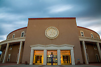 Santa Fe, New Mexico - September 28 2014: The New Mexico state capitol, the Roundhouse as it is called, houses nearly 600 paintings and sculptures from New Mexican artists and is open to the public free of charge.   CREDIT: Chris Carmichael for the New York Times