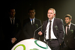 Matjaz Kek at official presentation of Slovenian National Football team for World Cup 2010 South Africa, on May 21, 2010 in Congress Center Brdo at Kranj, Slovenia. (Photo by Vid Ponikvar / Sportida)