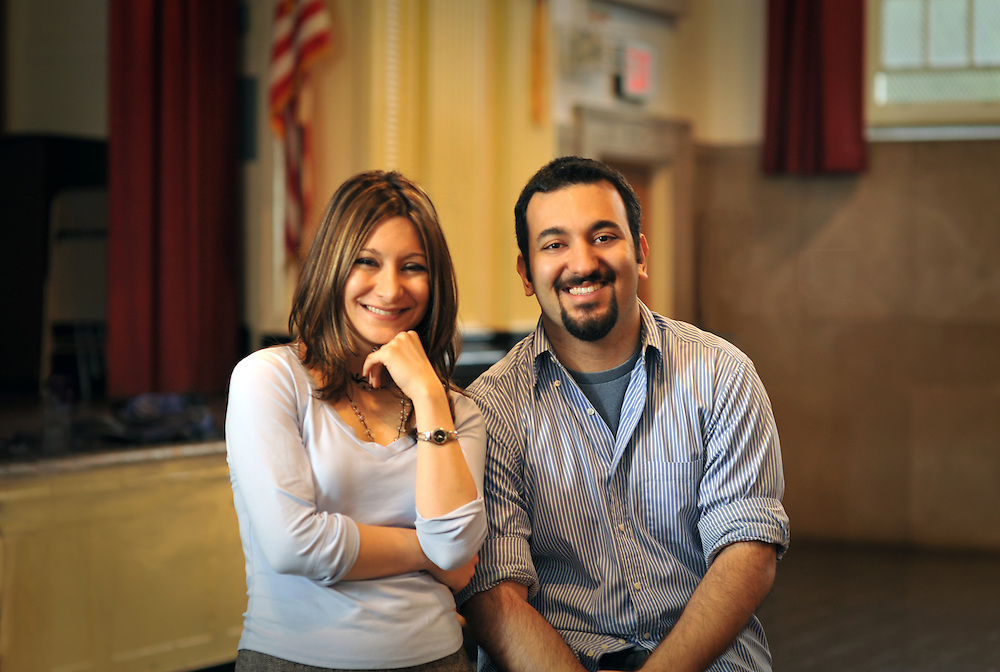 Dina and Daniel Nayeri present and sign books at P.S. 122 in Astoria, Queens Education photographer, New York City