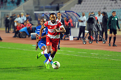 October 22, 2017 - Rades, Tunisia - Saber khalifa of CA during the Semi-final return of the CAF Cup between Club Africain (CA) and Supersport United FC of South Africa at the stadium of Rades  in Tunis..Club Africain lost (1-3) against the South African Super Sport Utd who will face TP Mazembe in the final. (Credit Image: © Chokri Mahjoub via ZUMA Wire)