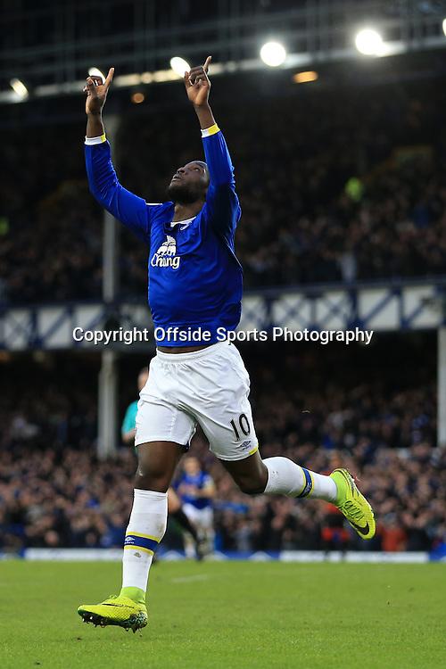 4th February 2017 - Premier League - Everton v Bournemouth - Romelu Lukaku of Everton celebrates after scoring their 5th goal - Photo: Simon Stacpoole / Offside.