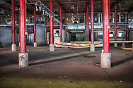 The abandoned Fulton fish market at South Street Seaport.