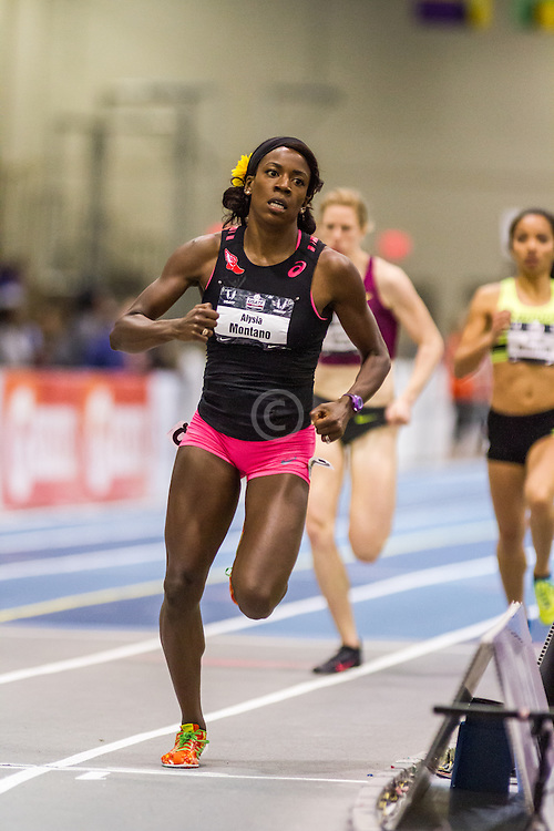 USATF Indoor Track & Field Championships: womens 600, Alysia Montano,