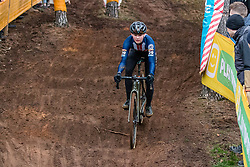 GUNSALUS Lizzy (USA) during Women Elite race, 2019 UCI Cyclo-cross World Cup Heusden-Zolder, Belgium, 26 December 2019.  <br /> <br /> Photo by Pim Nijland / PelotonPhotos.com <br /> <br /> All photos usage must carry mandatory copyright credit (Peloton Photos | Pim Nijland)