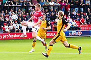 Salford City forward Adam Rooney caught off side during the EFL Sky Bet League 2 match between Salford City and Port Vale at Moor Lane, Salford, United Kingdom on 17 August 2019.