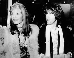Dec. 6, 1972 - London, England, U.K. - KEITH RICHARDS, the guitarist of the famous British rock group The Rolling Stones, the longest surviving group in the history of rock and roll, pictured with ANITA PALLENBERG. (Credit Image: © Keystone Press Agency/Keystone USA via ZUMAPRESS.com)