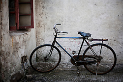 Old Fashioned Bicycle Parked Outdoors