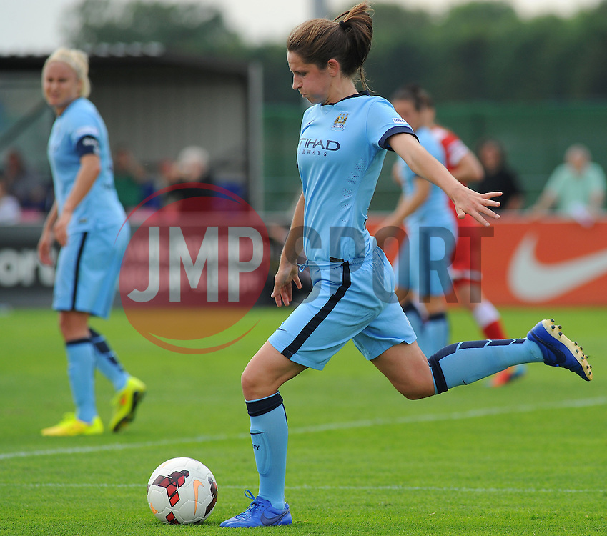 Manchester City Womens' Jill Scott in action. - Photo mandatory by-line: Nizaam Jones- Mobile: 07583 387221 - 28/09/2014 - SPORT - Women's Football - Bristol - SGS Wise Campus - BAWFC v Man City Ladies - sport