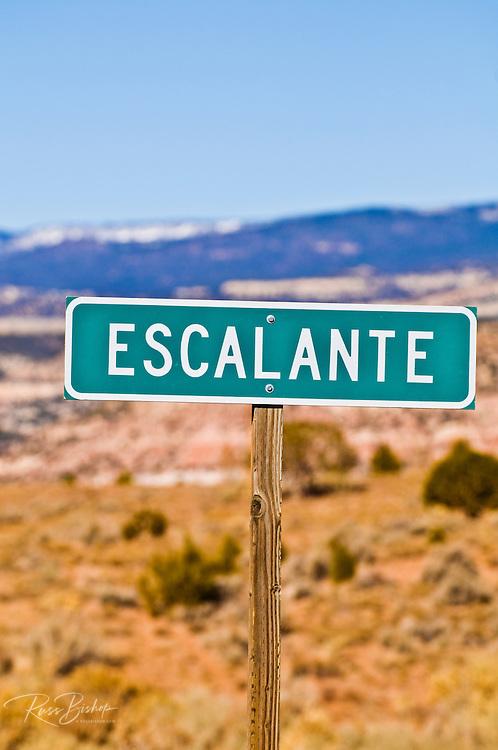 The town sign, Escalante, Utah