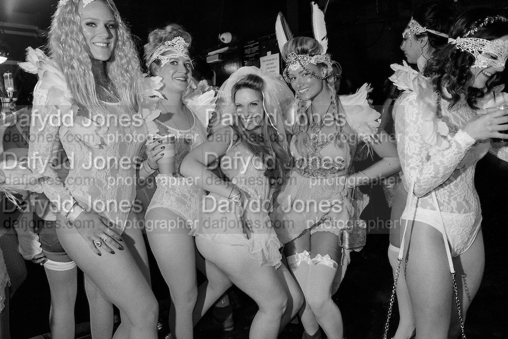 SARA AGOSTINI, CENTRE; BRIDE, HEN NIGHT, LOST HEARTS , A VALENTINE'S MASQUERADE BALL 2016 at the Coronet Theatre,  Elephant and Castle, London. 12th February 2016