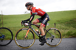 Amalie Dideriksen (DEN) in the break on Stage 5 of 2019 OVO Women's Tour, a 140 km road race from Llandrindod Wells to Builth Wells, United Kingdom on June 14, 2019. Photo by Sean Robinson/velofocus.com
