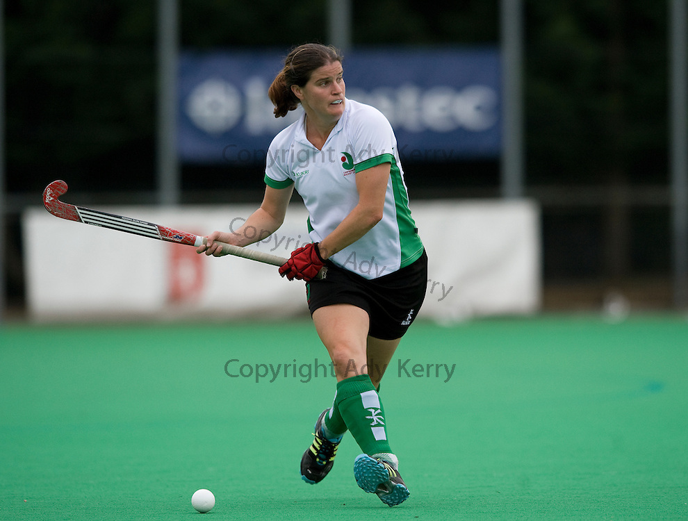 Canterbury's Jen Wilson during their Investec Women's Hockey League Premier Division game at Polo Farm, Canterbury, Kent, 21st September 2013.