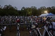Transition 1 - T1, June 8, 2014 - TRIATHLON : Ironman Cairns 70.3 / Cairns Airport Adventure Festival, Palm Cove - Captain Cook Highway - Cairns Esplanade, Cairns, Queensland, Australia. Credit: Lucas Wroe