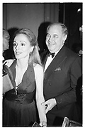 Mr. and Mrs. Alfred Taubman, Spanish Gold Medal Gala. Pierre hotel New York. 17 November 1989. © Copyright Photograph by Dafydd Jones 66 Stockwell Park Rd. London SW9 0DA Tel 020 7733 0108 www.dafjones.com
