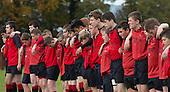 CBS rugby team minute's silence