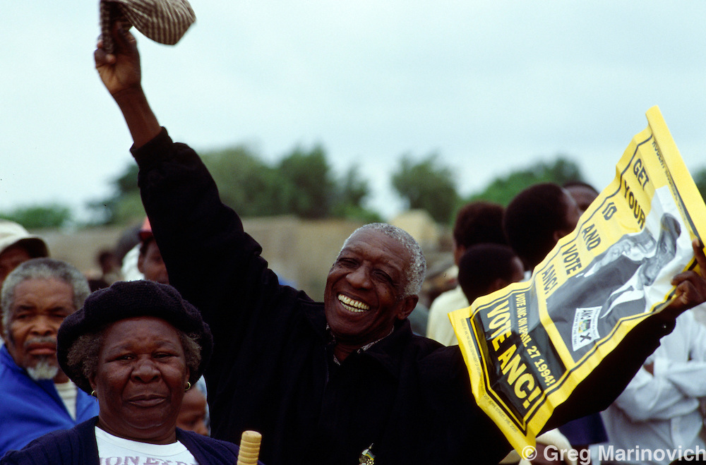 Winterveldt South Africa ANC supporters from Bophuthutswana, 1994.
