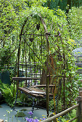 Living willow arbour. The Cumbrian Fellside Garden. Design: Kim Wilde and Richard Lucas - Chelsea 2005