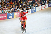 Women Madison, Julie Leth (Denmark)during the Track Cycling European Championships Glasgow 2018, at Sir Chris Hoy Velodrome, in Glasgow, Great Britain, Day 6, on August 7, 2018 - Photo luca Bettini / BettiniPhoto / ProSportsImages / DPPI<br /> - Restriction / Netherlands out, Belgium out, Spain out, Italy out -