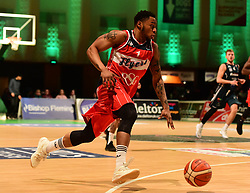 Panos Mayindombe of Bristol Flyers - Photo mandatory by-line: Alex James/JMP - 25/02/2018 - BASKETBALL - Plymouth Pavilions - Plymouth, England - Plymouth Raiders v Bristol Flyers - British Basketball League