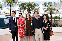Yu Junsang, Moon Sori,  Isabelle Huppert, Hong Sangsoo, Youn Yuh-jung at the DA-REUN NA-RA-E-SUH (IN ANOTHER COUNTRY) film photocall at the 65th Cannes Film Festival. Monday 21st May 2012 in Cannes Film Festival, France.