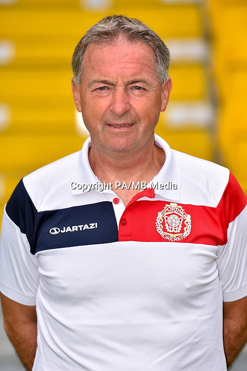 20150626 - LOKEREN, BELGIUM: Lokeren's assistant coach Danny Veyt pictured during the 2015-2016 season photo shoot of Belgian first league soccer team Sporting Lokeren, Friday 26 June 2015 in Lokeren. BELGA PHOTO LUC CLAESSEN
