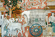 Subodharamaya temple, just South of Colombo,  has one of the finest collections of Buddhist temple paintings.