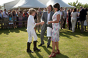 PAUL GREEN; KATY GREEN, The Dalwhinnie Crook  charity Polo match  at Longdole  Polo Club, Birdlip  hosted by the Halcyon Gallery. . 12 June 2010. -DO NOT ARCHIVE-© Copyright Photograph by Dafydd Jones. 248 Clapham Rd. London SW9 0PZ. Tel 0207 820 0771. www.dafjones.com.