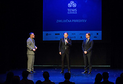 Gasper Bolhar, Marko Umberger and Miha Rakar at Slovenian Tennis personality of the year 2016 annual awards presented by Slovene Tennis Association Tenis Slovenija, on December 7, 2016 in Siti Teater, Ljubljana, Slovenia. Photo by Vid Ponikvar / Sportida