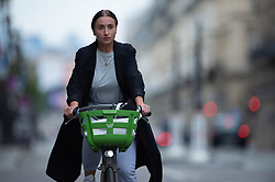 Cyclist ride bike on Rivoli Street in Paris on May 4, 2020, on the forty-ninth day of a strict lockdown in France, in place to attempt to stop the spread of the new coronavirus (COVID-19). Photo by Raphael Lafargue/ABACAPRESS.COM