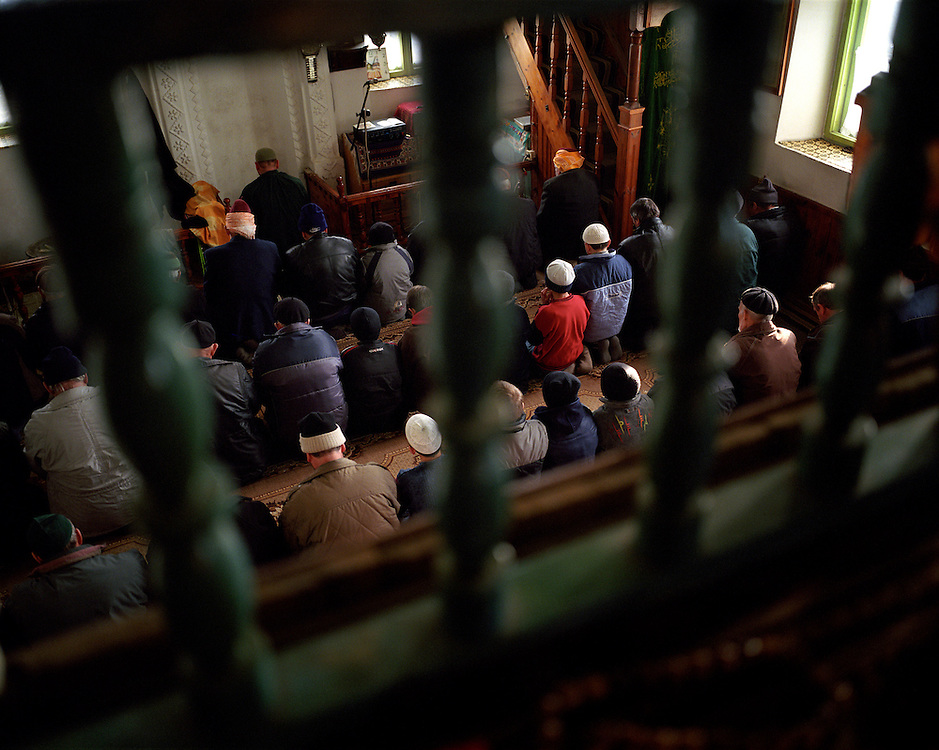 Prayers in the mosque on a normal weekday, throughout the week attendance is not high. But on Fridays the mosque is crowded with men.