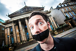 The Boy With Tape On His Face, at The Dome on George Street, interviewed about his forthcoming Fringe shows.<br /> &copy;Michael Schofield.