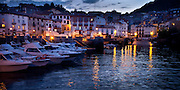 Evening at Mundaka harbor in Mundaka, Spain