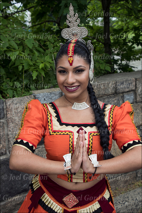 Kandysan Sri Lankan dancer showing her ethnic pride.<br />