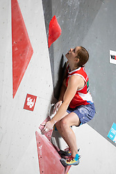 Tatiana Shemulinkina of Russia during Women's bouldering semifinal at the IFSC Climbing World Championships Innsbruck 2018, on September 14, 2018 in OlympiaWorld Innsbruck, Austria, Slovenia. Photo by Urban Urbanc / Sportida