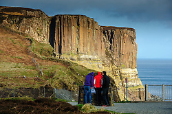 Tourists at Kilt Rock, Isle of Skye, Scotland<br /> <br /> (c) Andrew Wilson | Edinburgh Elite media