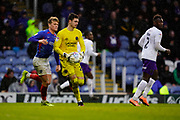 Max O'Leary of Shrewsbury Town in action during the EFL Sky Bet League 1 match between Portsmouth and Shrewsbury Town at Fratton Park, Portsmouth, England on 15 February 2020.