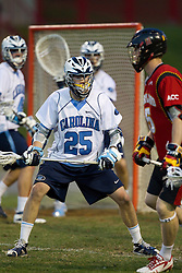 23 April 2010: North Carolina Tar Heels  midfielder Greg McBride (25) during a 13-5 loss to the Maryland Terrapins in the first round of the ACC Tournament at Byrd Stadium in College Park, MD.