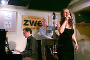 Vienna, Austria. Jazz singer Matilda Leko and Band at zwe..Andy Mayerl (bass), Nicola Stanosevic (piano)..