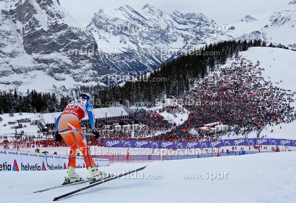 18.01.2014, Lauberhorn, Wengen, SUI, FIS Weltcup Ski Alpin, Wengen, Abfahrt, Herren, im Bild Aksel Lund Svindal (NOR) // in action during the downhill of the Wengen FIS Ski Alpine World Cup at the Lauberhorn in Wengen, Switzerland on 2014/01/18. EXPA Pictures &copy; 2014, PhotoCredit: EXPA/ Freshfocus/ Christian Pfander<br /> <br /> *****ATTENTION - for AUT, SLO, CRO, SRB, BIH, MAZ only*****