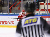 2020-03-07   Ljungby, Sverige: Troja-Ljungby (21) Karl Olofsson under matchen i Hockeyettan mellan IF Troja/Ljungby och Bodens HF i Ljungby Arena ( Foto av: Fredrik Sten   Swe Press Photo )<br /> <br /> Nyckelord: Ljungby, Ishockey, Hockeyettan, Ljungby Arena, IF Troja/Ljungby, Bodens HF, fstb200307, playoff, kval