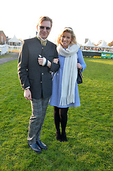 HENRY CONWAY and NATALIE COYLE at the 2014 Hennessy Gold Cup at Newbury Racecourse, Newbury, Berkshire on 29th November 2014.  The Gold Cup was won by Many Clouds ridden by Leighton Aspell.