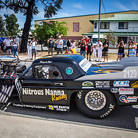Tracey DeJager's Nitrous Nanna Racing 1955 Ford Thunderbird at the Armadale Auto Parts Open Day.