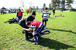 Cooper Vuna delivers coaching sessions at Stourbridge RFC  - Mandatory by-line: Dougie Allward/JMP - 19/03/2017 - Rugby - Stourbridge RFC - Stourbridge, England - Worcester Warriors Community Rugby