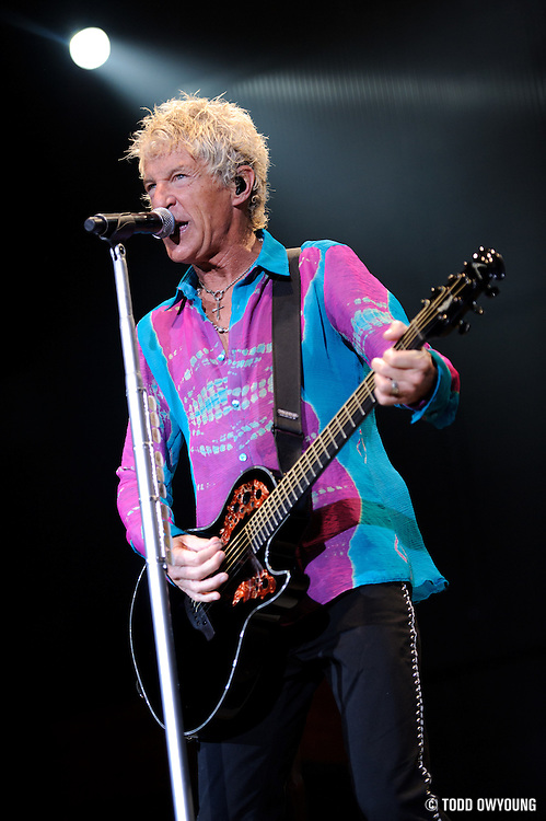 REO Speedwagon performing at Verizon Wireless Amphitheater in St. Louis on July 10, 2010.