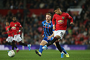 Manchester United's Marcos Rojo during the EFL Cup match between Manchester United and Rochdale at Old Trafford, Manchester, England on 25 September 2019.